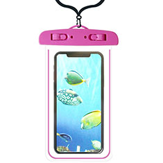 Universal Waterproof Cover Dry Bag Underwater Pouch W08 for Alcatel 3 2019 Hot Pink