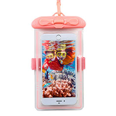 Universal Waterproof Cover Dry Bag Underwater Pouch W11 for Alcatel 3 2019 Pink