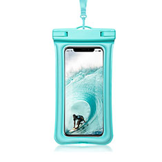 Universal Waterproof Cover Dry Bag Underwater Pouch W12 Cyan