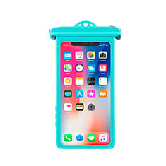 Universal Waterproof Cover Dry Bag Underwater Pouch W14 for Alcatel 3 2019 Cyan