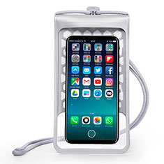 Universal Waterproof Cover Dry Bag Underwater Pouch W15 for Alcatel 3 2019 Silver