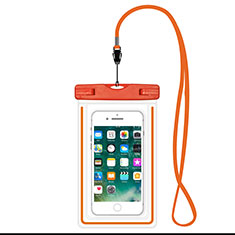 Universal Waterproof Cover Dry Bag Underwater Pouch W16 for Oppo Reno4 5G Orange