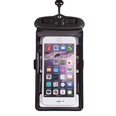 Universal Waterproof Cover Dry Bag Underwater Pouch W18 for Alcatel 7 Black