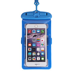 Universal Waterproof Cover Dry Bag Underwater Pouch W18 for Alcatel 3 2019 Blue
