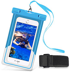 Universal Waterproof Hull Dry Bag Underwater Case W03 for Alcatel 3 2019 Sky Blue