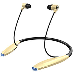 Wireless Bluetooth Sports Stereo Earphone Headset H51 for Oneplus 7 Pro Gold