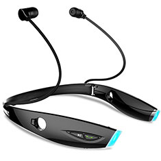 Wireless Bluetooth Sports Stereo Earphone Headset H52 for Alcatel 7 Black