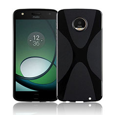 X-Line Transparent Gel Soft Case T01 for Motorola Moto Z Play Black