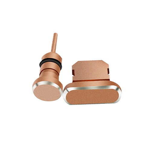 Anti Dust Cap Lightning Jack Plug Cover Protector Plugy Stopper Universal J01 for Apple iPhone SE (2020) Rose Gold