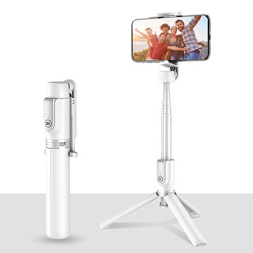 Extendable Folding Handheld Selfie Stick Tripod Bluetooth Remote Shutter Universal T28 White
