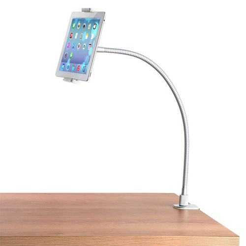 Flexible Tablet Stand Mount Holder Universal T37 for Apple iPad 3 White