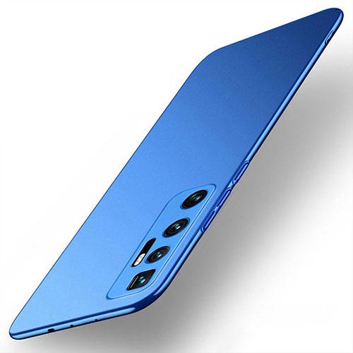 Hard Rigid Plastic Matte Finish Case Back Cover M01 for Xiaomi Mi 10 Ultra Blue