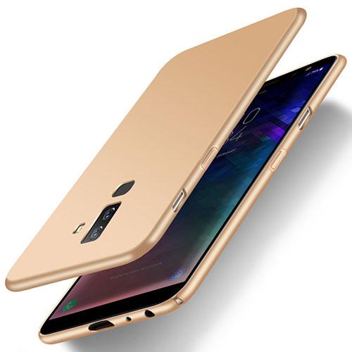 Hard Rigid Plastic Matte Finish Case M04 for Samsung Galaxy A6 Plus Gold