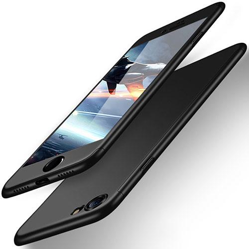 Hard Rigid Plastic Matte Finish Front and Back Case 360 Degrees for Apple iPhone SE (2020) Black