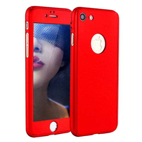 Hard Rigid Plastic Matte Finish Front and Back Cover Case 360 Degrees P01 for Apple iPhone SE (2020) Red