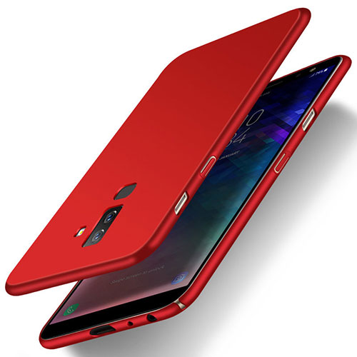 Hard Rigid Plastic Matte Finish Snap On Cover M04 for Samsung Galaxy A6 Plus Red