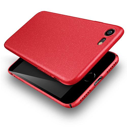 Hard Rigid Plastic Quicksand Cover for Apple iPhone SE (2020) Red