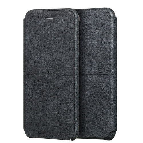Leather Case Stands Flip Cover for Apple iPhone SE (2020) Black