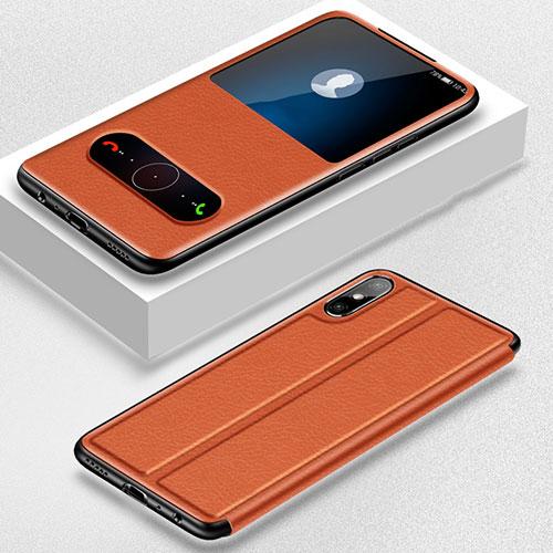 Leather Case Stands Flip Cover Holder for Huawei Enjoy 10e Orange