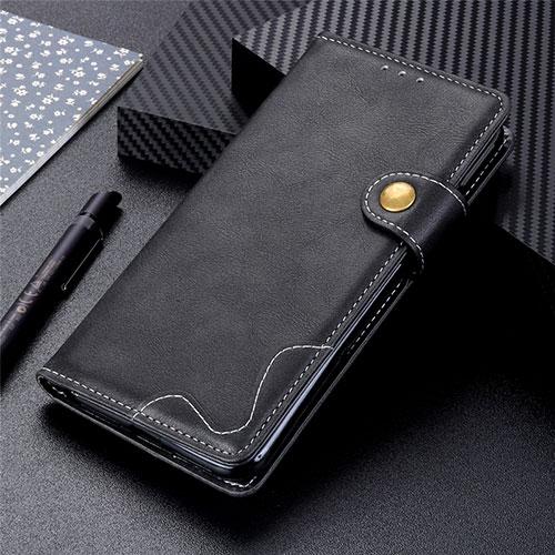 Leather Case Stands Flip Cover Holder for Motorola Moto G9 Plus Black