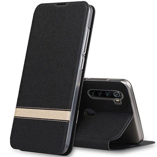Leather Case Stands Flip Cover Holder for Xiaomi Redmi Note 8 Black