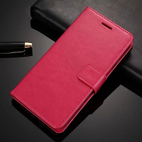 Leather Case Stands Flip Cover Holder for Xiaomi Redmi Note 8 Pro Red