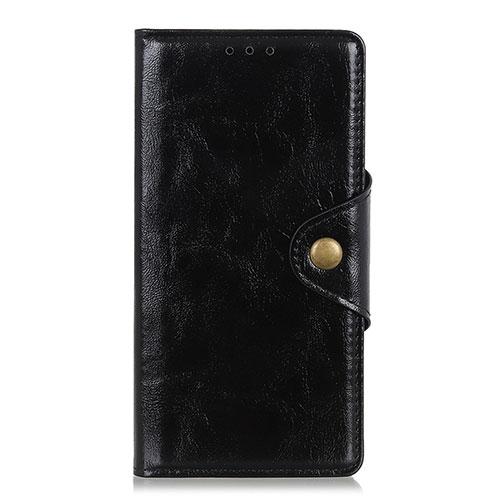 Leather Case Stands Flip Cover L01 Holder for Huawei Enjoy 10S Black