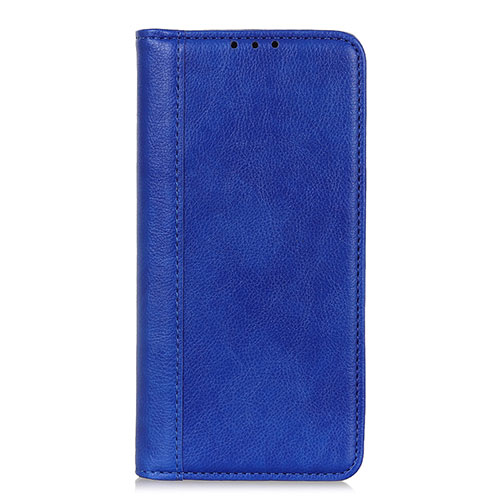 Leather Case Stands Flip Cover L01 Holder for Motorola Moto G9 Plus Blue