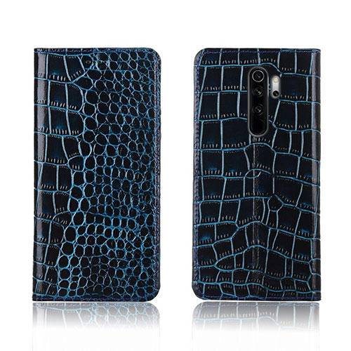 Leather Case Stands Flip Cover L01 Holder for Xiaomi Redmi Note 8 Pro Sky Blue