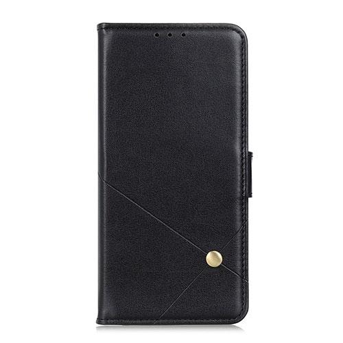 Leather Case Stands Flip Cover L02 Holder for Motorola Moto G9 Plus Black