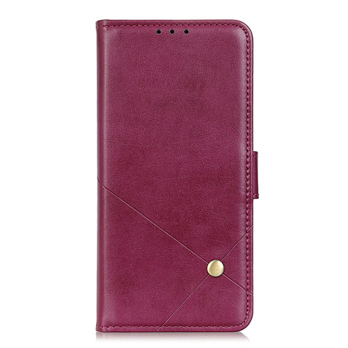Leather Case Stands Flip Cover L02 Holder for Motorola Moto G9 Plus Red Wine