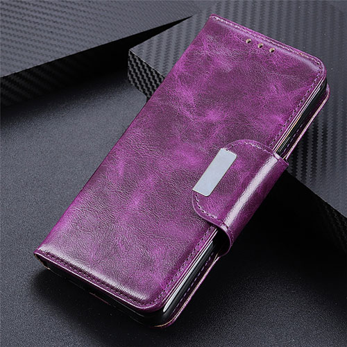 Leather Case Stands Flip Cover L03 Holder for Huawei Enjoy 10S Purple
