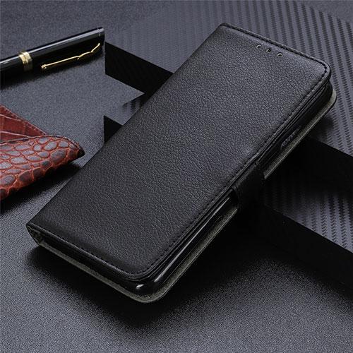 Leather Case Stands Flip Cover L03 Holder for Motorola Moto G9 Plus Black