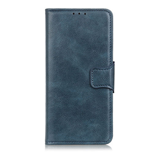 Leather Case Stands Flip Cover L03 Holder for Oppo Reno3 A Blue