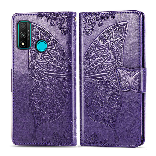 Leather Case Stands Flip Cover L04 Holder for Huawei P Smart (2020) Purple