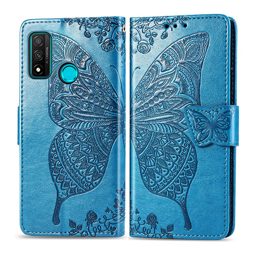 Leather Case Stands Flip Cover L04 Holder for Huawei P Smart (2020) Sky Blue