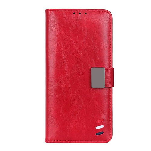 Leather Case Stands Flip Cover L04 Holder for Motorola Moto G9 Plus Red