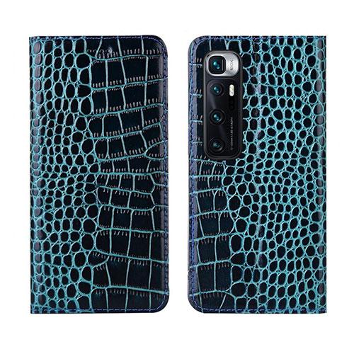 Leather Case Stands Flip Cover L04 Holder for Xiaomi Mi 10 Ultra Blue