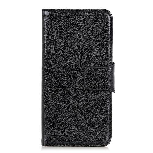 Leather Case Stands Flip Cover L05 Holder for Huawei Enjoy 10S Black