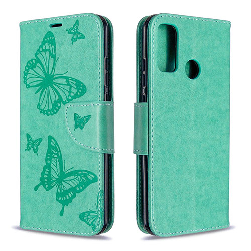 Leather Case Stands Flip Cover L05 Holder for Huawei P Smart (2020) Green