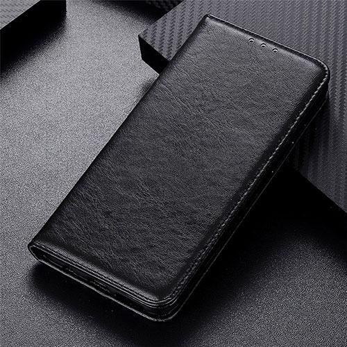 Leather Case Stands Flip Cover L05 Holder for Motorola Moto G9 Plus Black