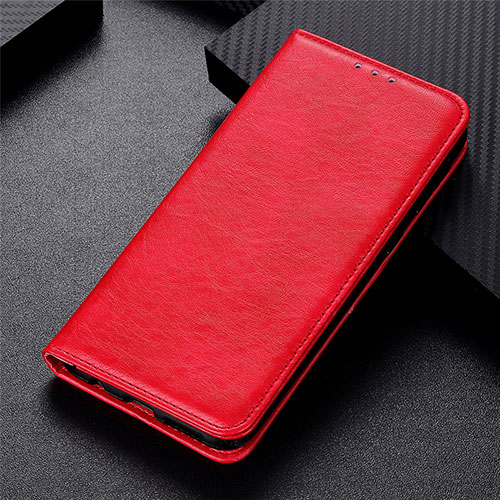 Leather Case Stands Flip Cover L05 Holder for Motorola Moto G9 Plus Red