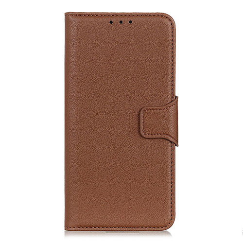 Leather Case Stands Flip Cover L05 Holder for Oppo Reno3 A Brown