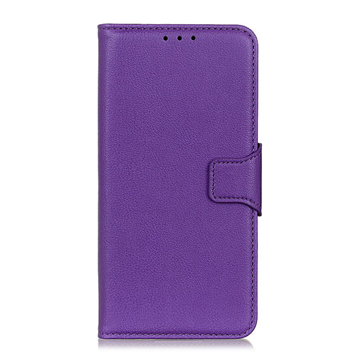 Leather Case Stands Flip Cover L05 Holder for Oppo Reno3 A Purple