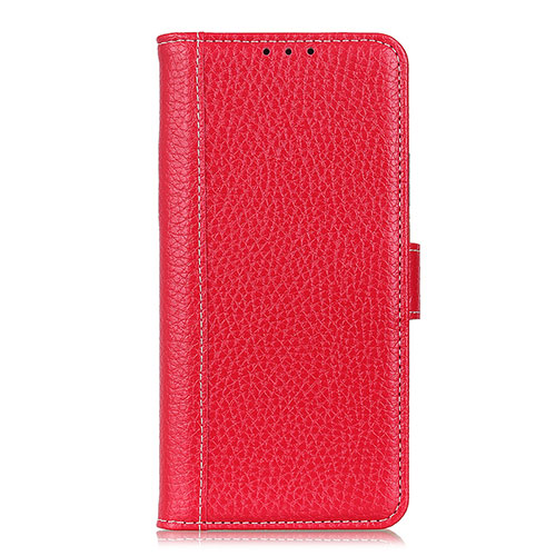 Leather Case Stands Flip Cover L06 Holder for Huawei P Smart (2020) Red