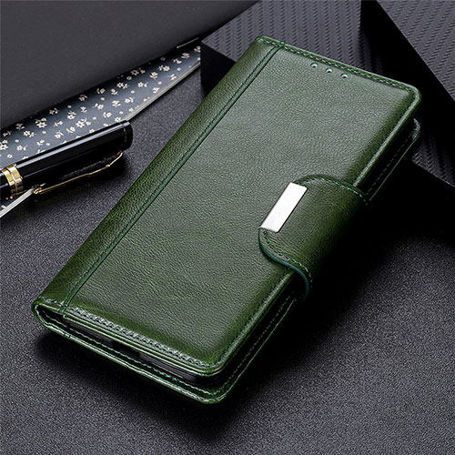 Leather Case Stands Flip Cover L06 Holder for Huawei Y8p Green