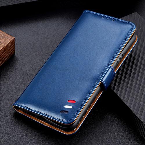 Leather Case Stands Flip Cover L07 Holder for Huawei Enjoy 10S Blue