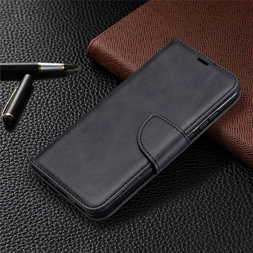 Leather Case Stands Flip Cover L07 Holder for Huawei P Smart (2020) Black