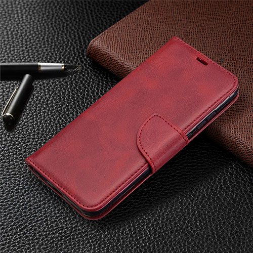 Leather Case Stands Flip Cover L07 Holder for Huawei P Smart (2020) Red