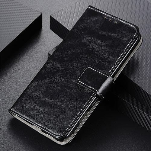 Leather Case Stands Flip Cover L07 Holder for Motorola Moto G9 Plus Black